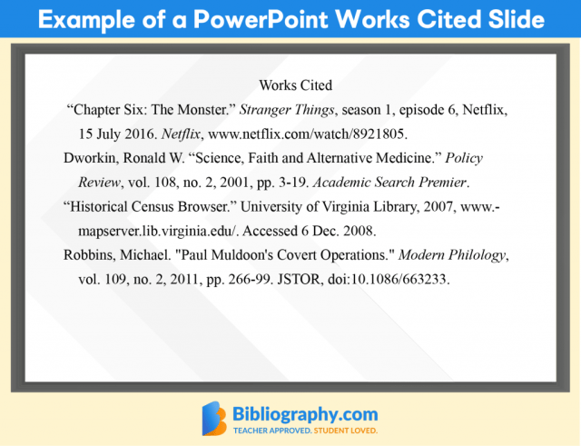 How to Cite a PowerPoint Presentation in MLA  Bibliography.com