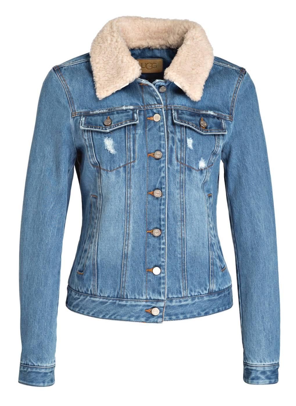 UGG Jeansjacke mit Besatz in Felloptik