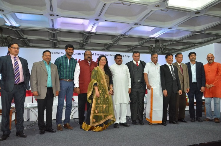 <b>Mr. SK Choudhary, Dr. Ishari K Ganesh, Chancellor Vels University, Actor Vishal, Mr. Xavier Britto, Chairman Howdy Ventures, Hon'ble Minister for Tribal Affairs Shri Jual Oram, La Ganesan MP, Mr. Sudhakar</b>