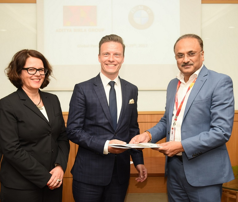 <b>(L - R) – Ms. Astrid Schneider - Key Account Management, International Corporate, Direct and Special Sales, BMW Group AG, Mr. Rene Gerhard, Director-Sales, BMW Group India, Mr. Subrato Sarkaar, Joint President - Corporate Administration, Aditya Birla Group</b>