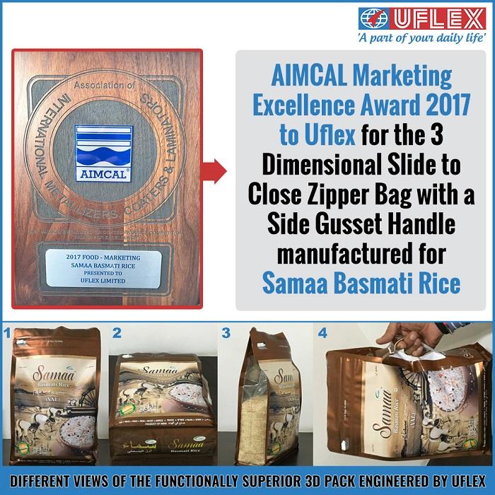 <b>AIMCAL Marketing Excellence Award 2017 to Uflex</b>