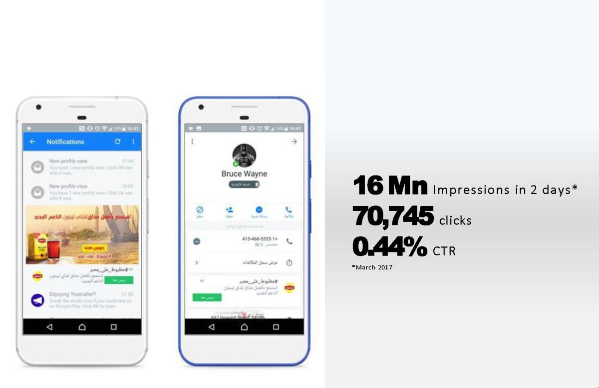 Advertise on Truecaller