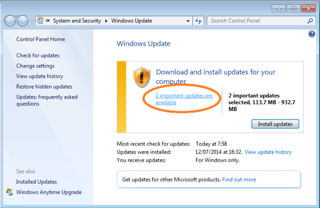 Cara Update Windows 7 Secara Manual
