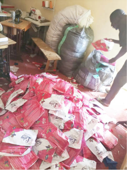 The pads, for now, are bought by NGOs who distribute them to vulnerable and destitute girls