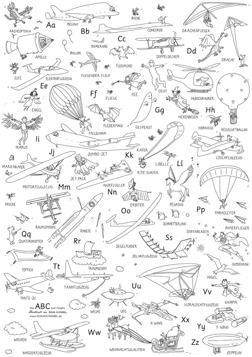 Alles Was Fliegt Dunjas Schnabel Illustration