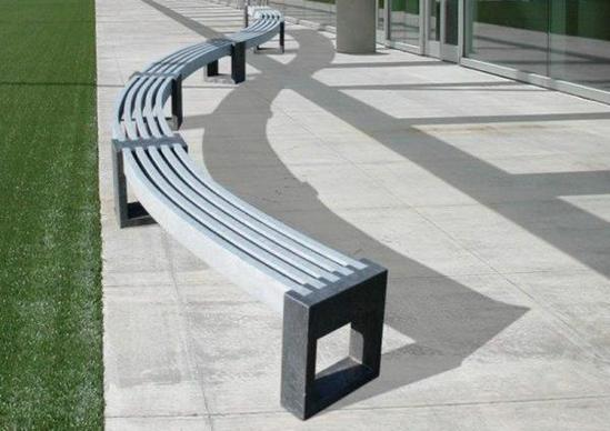 Canvas 30 Degree Recycled Plastic Curved Bench Goplastic