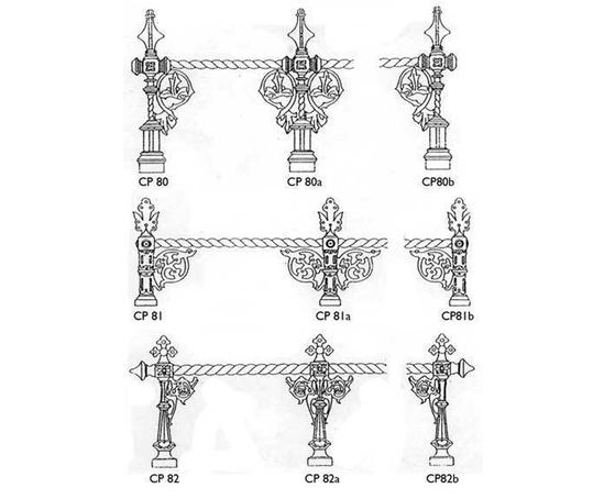 Cast iron traditional Victorian window sill castings