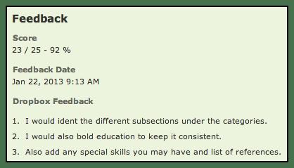 feedback example