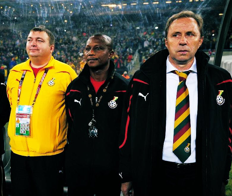 Nenad Glisic (left) was a key man to Milo when they worked with the Black Stars