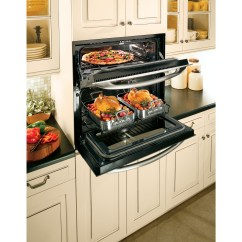 Compact Kitchens Nz Kitchen Mats Target Ge Cooks Up Double Oven Versatility In One Small Space ...
