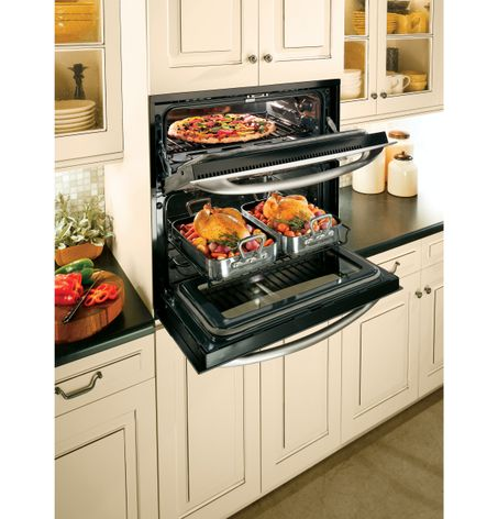 Ge Monogram Oven Wiring Diagram Ge Cooks Up Double Oven Versatility In One Small Space