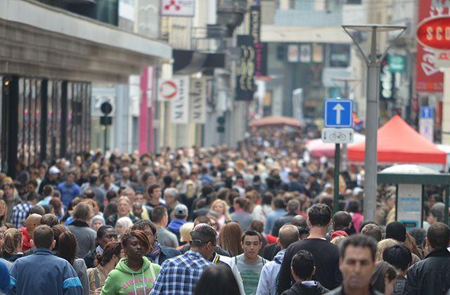 A very crowded street