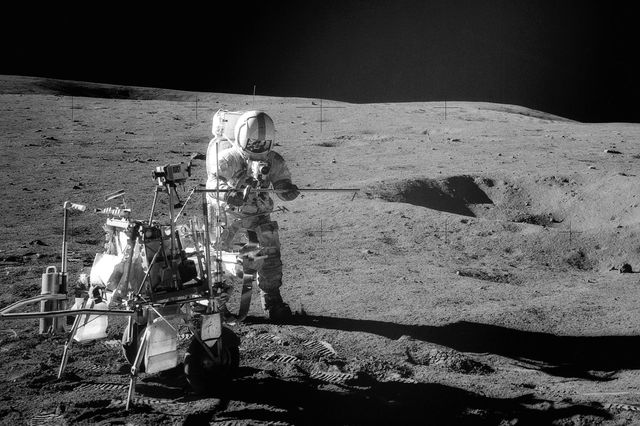 Apollo 14 astronaut Alan Shepard. A new UCLA study determined the age of the moon by analyzing minerals brought back by the 1971 mission.