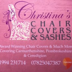 Wedding Chair Cover Hire Pembrokeshire Custom Directors Covers Carmarthenshire Christinas Dressing Services