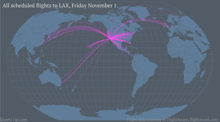 All the flights that are dependent on LAX staying open — Quartz