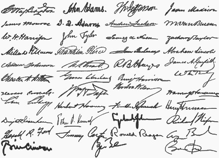 Donald Trump official signature: Trump takes a tediously long time to sign his name — Quartz