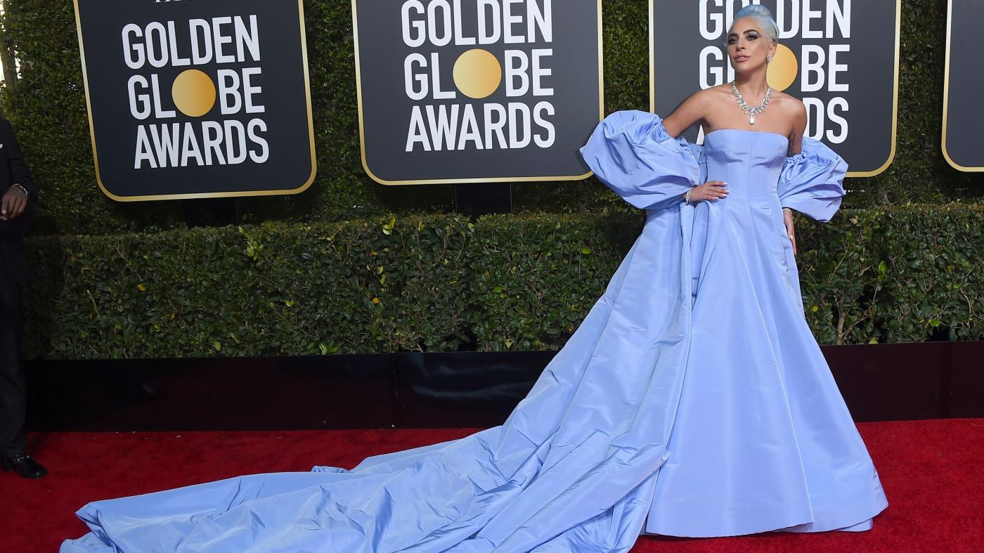 Lady Gaga Wore Blue Valentino To The 2019 Golden Globes