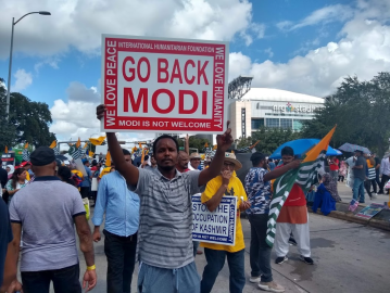 Image result for howdy modi protests