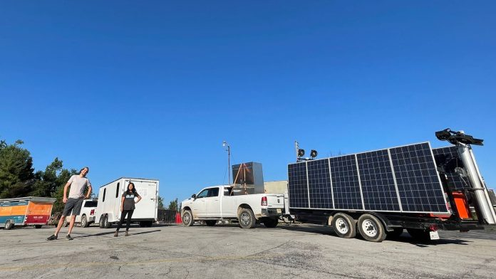 Footprint Project deploys solar trailers to the sites of disasters.