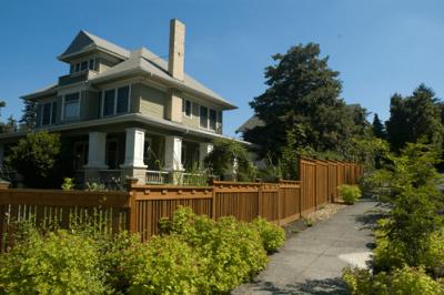 Cedar Fence Around House