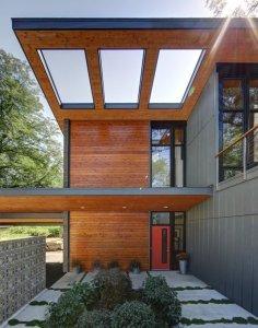 Midvale Courtyard House Knotty Cedar Siding