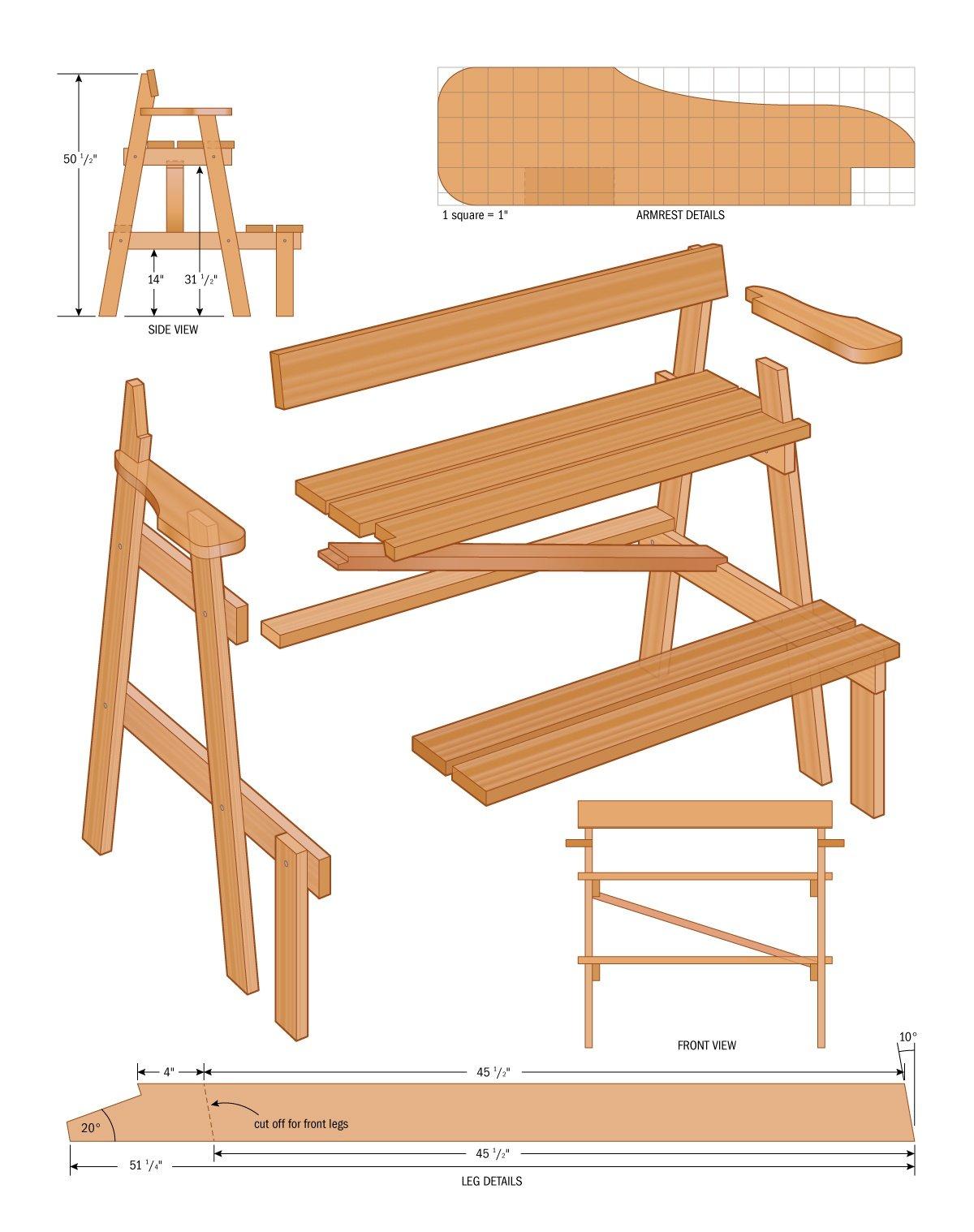 Cedar lookout bench plans