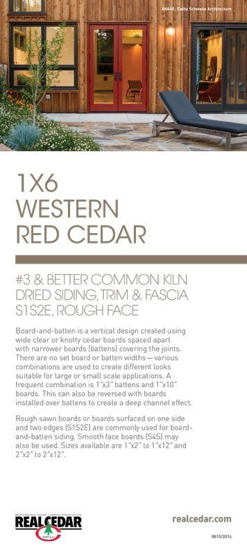 Item#15 – 1X6 WRC #3 Common & Better, KD, Rough Face For Trim, Fascia and Board & Batten Siding