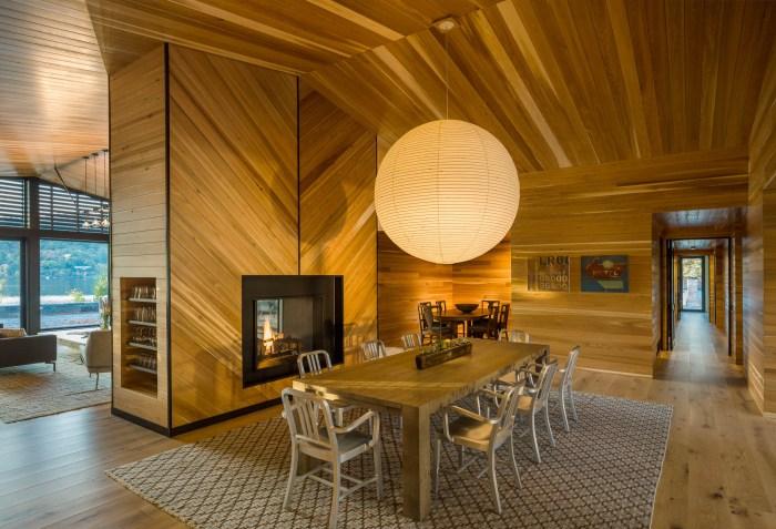 herringbone fireplace design