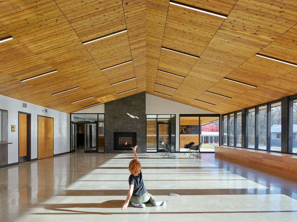 interior cedar ceiling paneling