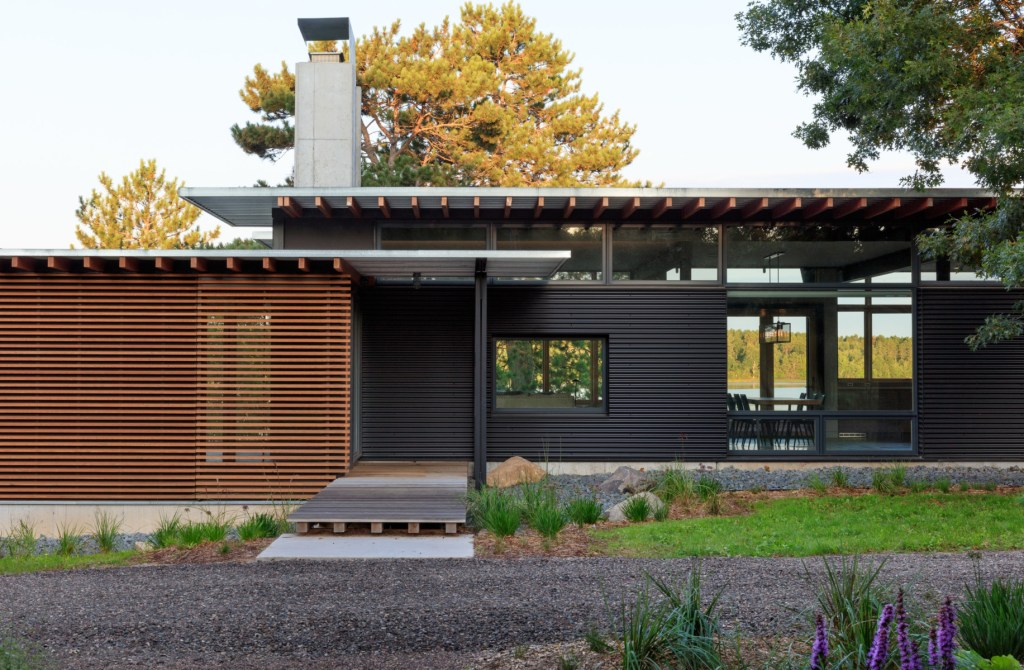 front of house western red cedar siding