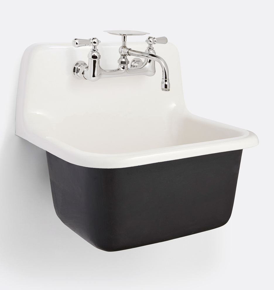grizzly cast iron utility sink with