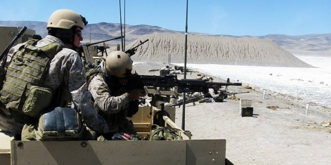 MSOT conducting weapon familiarization in Nevada