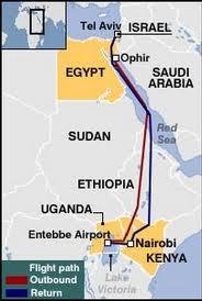 Entebbe Rescuer's Route