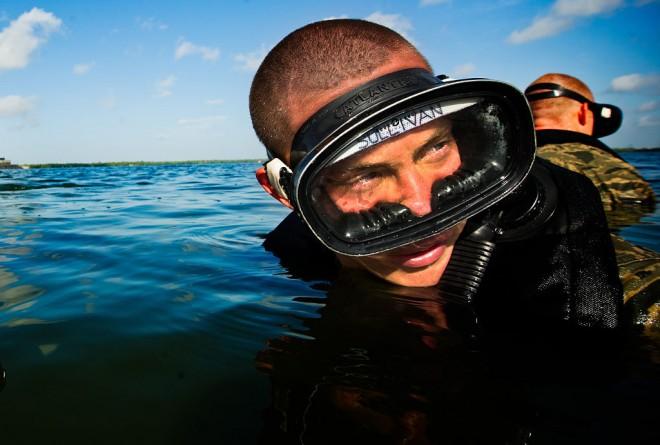 PJ Trainee Getting Ready to Swim