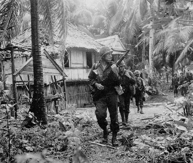 Company F. 6th Ranger Battalion, in the Philippines