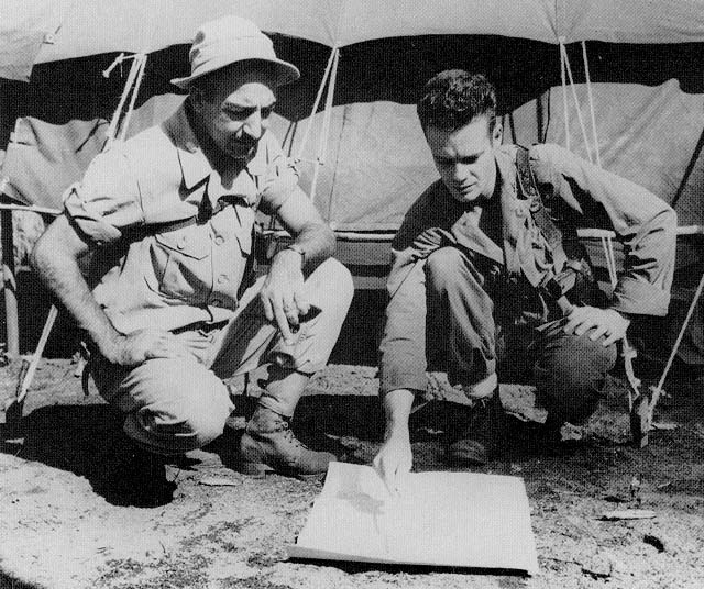 Captain Robert Prince and Lt. Col. Mucci