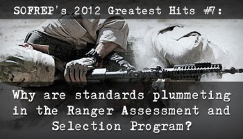 SOFREP's 2012 Greatest Hits #7: Why are standards plummeting in the Ranger Selection?