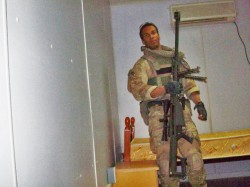 The Author with a .50 cal Sniper Rifle in Afghanistan