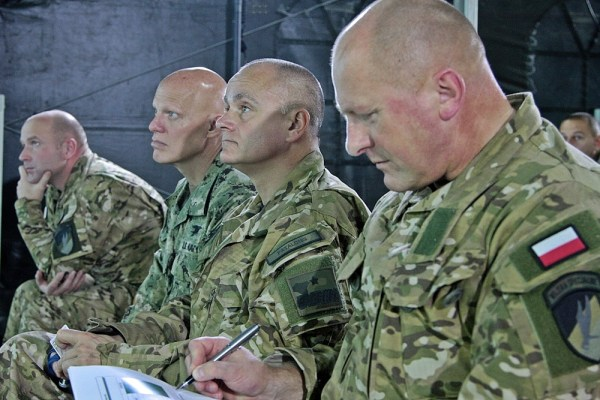 Briefing by COL Marcin Szymański, chief of the DWS Operational Division