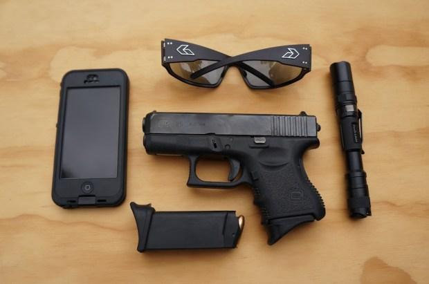 sunglasses gatorz lifeproof iphone flashlight gun weapon everyday carry copy