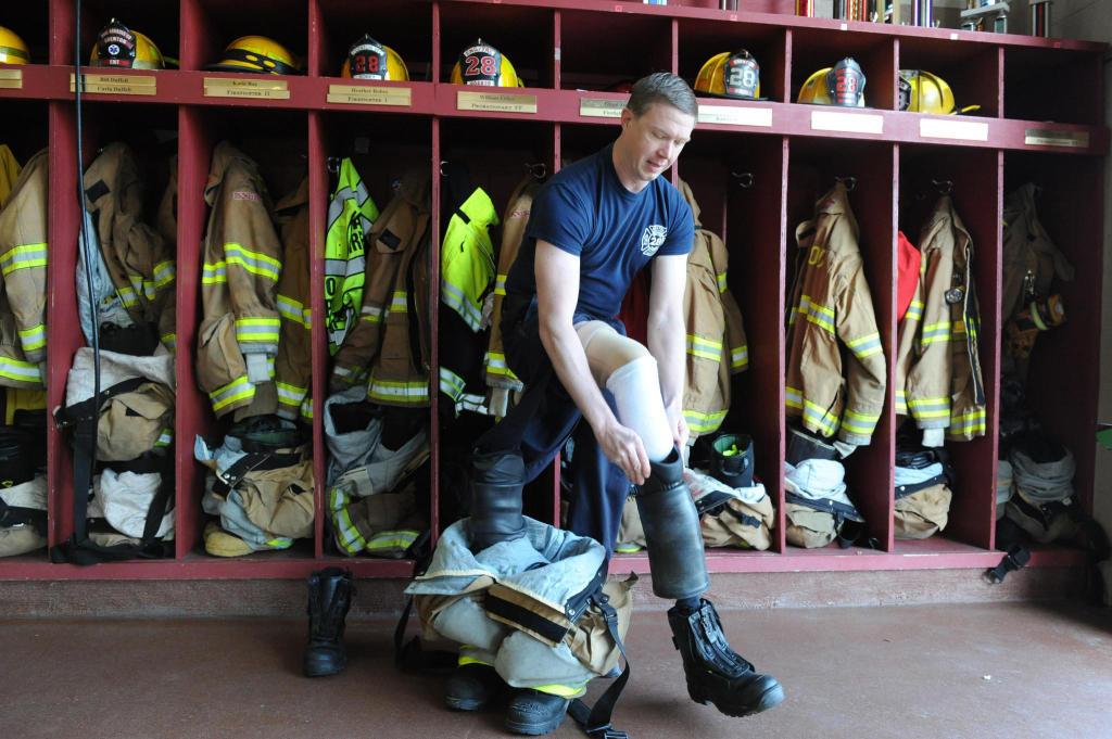 Firefighter William Fisher Jr. of Fort Meade