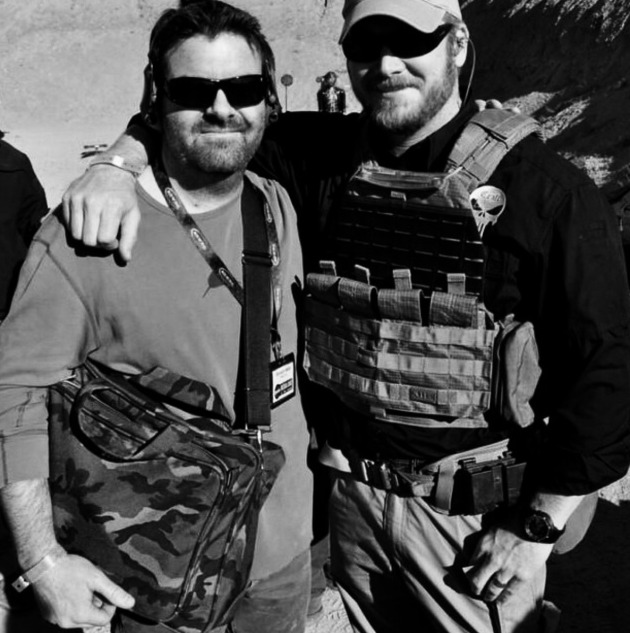Brandon Webb and Chris Kyle at Shot Show 2012