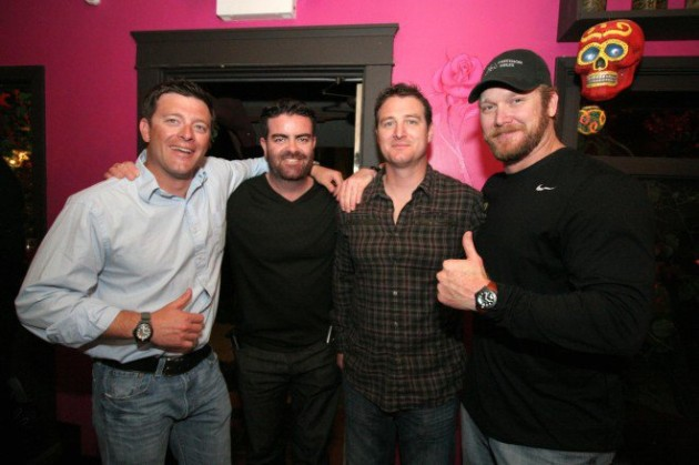 Photo: Dinner with Chris Kyle and friends in San Diego. Author's personal collection.
