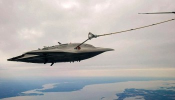 The X-47B UCAS Aerial Refuel