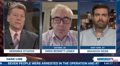 SOFREP Founder Brandon Webb on Newsmax to Discuss Paris Attacks