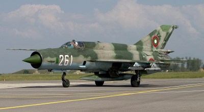 Air-to-Air With Bulgarian Air Force MiG-21Fishbeds!