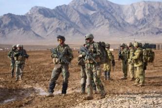 COP Tabar 1 maart 2010. Korps Mariniers, patrouille