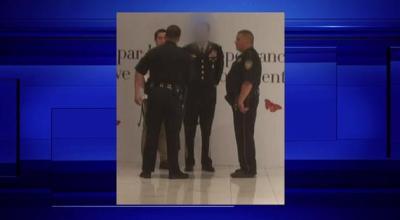 Military impersonator gets escorted out of a Houston mall
