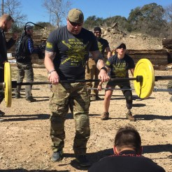 Scott Weaver, EOD tech who almost lost his leg from an IED in Afghanistan. He now uses an Exosym (IDEO) device to help him with everyday life and CrossFit competitions. Three-time champion of the Working Wounded Games.