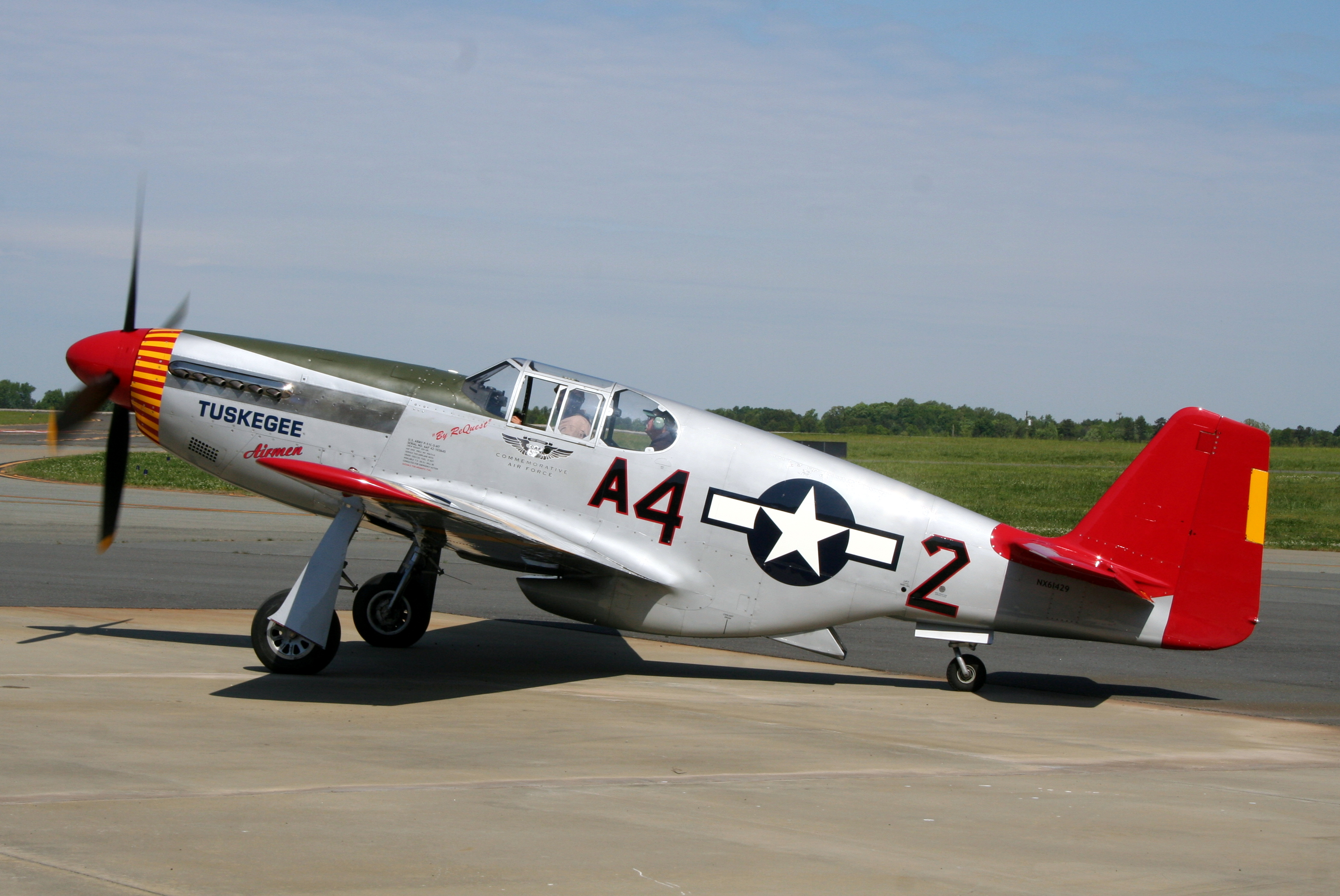 Red Tail North American P-51C Mustang Tuskegee Airmen WWII